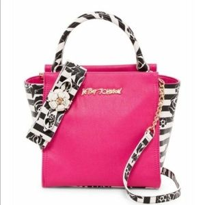 Betsey Johnson Petal to the Metal Tote Fuchsia